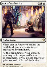 Act of Authority - Commander 2013