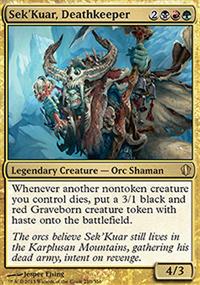 Sek'Kuar, Deathkeeper - Commander 2013