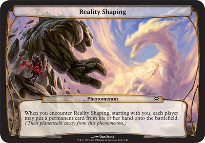 Reality Shaping - Planechase 2012