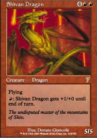 Shivan Dragon - 7th Edition