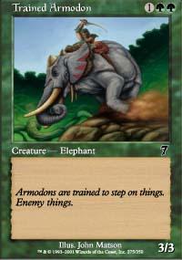 Trained Armodon - 7th Edition