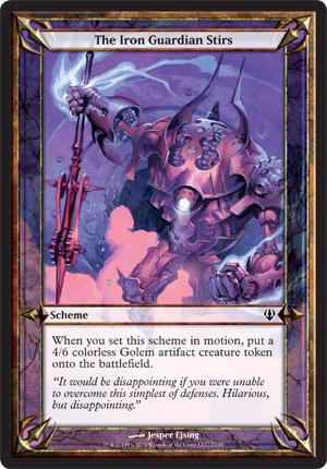 The Iron Guardian Stirs - Archenemy - schemes