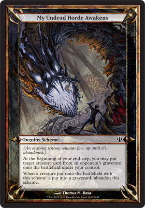 My Undead Horde Awakens - Archenemy - schemes
