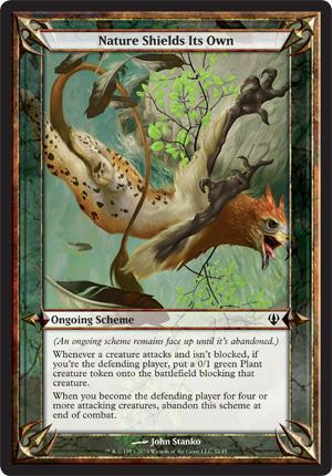 Nature Shields Its Own - Archenemy - schemes