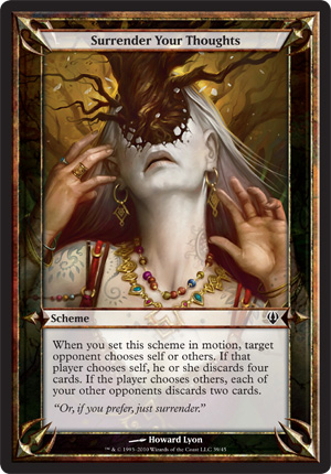 Surrender Your Thoughts - Archenemy - schemes