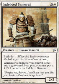 Indebted Samurai - Betrayers of Kamigawa