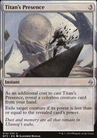 Titan's Presence - Battle for Zendikar