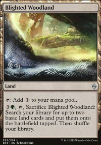 Blighted Woodland - Battle for Zendikar