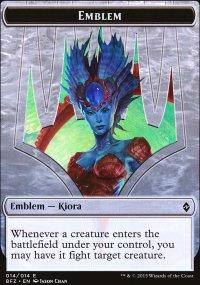 Emblem Kiora, Master of the Depths - Battle for Zendikar