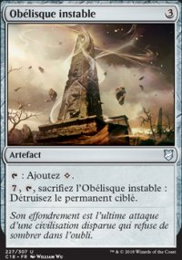 Obélisque instable -