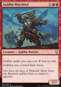 Goblin Warchief - Dominaria