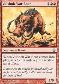 Vulshok War Boar - Darksteel