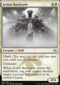 Jeskai Barricade - Fate Reforged