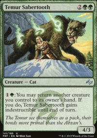 Temur Sabertooth - Fate Reforged