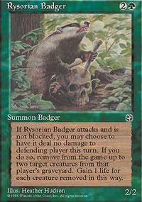 Rysorian Badger - Homelands