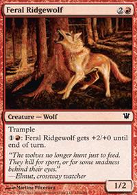 Feral Ridgewolf - Innistrad