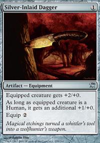 Silver-Inlaid Dagger - Innistrad
