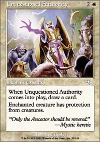 Unquestioned Authority - Judgment