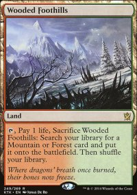 Wooded Foothills - Khans of Tarkir