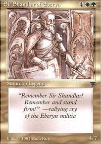 Sir Shandlar of Eberyn - Legends