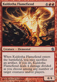 Kuldotha Flamefiend - Mirrodin Besieged