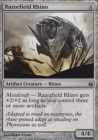 Razorfield Rhino - Mirrodin Besieged