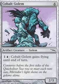 Cobalt Golem - Mirrodin