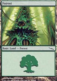 Forest 3 - Mirrodin
