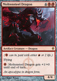 Moltensteel Dragon - New Phyrexia