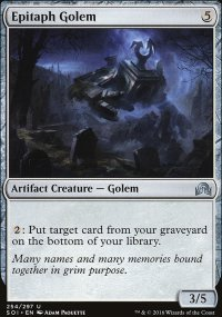 Epitaph Golem - Shadows over Innistrad