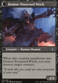 Demon-Possessed Witch - Shadows over Innistrad
