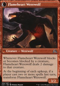 Flameheart Werewolf - Shadows over Innistrad
