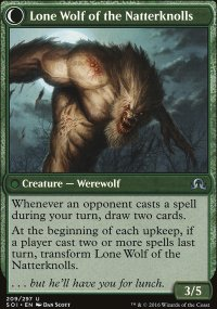 Lone Wolf of the Natterknolls - Shadows over Innistrad