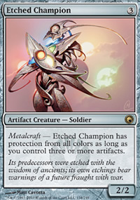 Etched Champion - Scars of Mirrodin