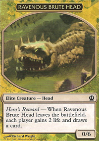 Ravenous Brute Head - Theros Challenge Deck : Face the Hydra