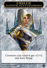 Emblem Elspeth, Sun's Champion - Theros
