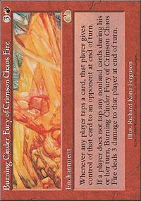 Burning Cinder Fury of Crimson Chaos Fire - Unglued