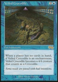 Veiled Crocodile - Urza's Saga