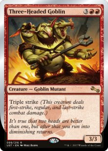 Three-Headed Goblin - Unstable