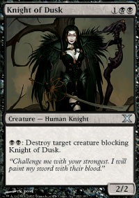 Knight of Dusk - 10th Edition