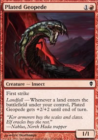 Plated Geopede - Zendikar